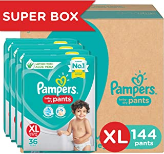 Pampers New Diaper Pants Super Value Box, XL, 144 Count