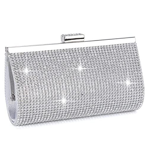Lady Diamante Clutch Ladies Evening Party Bridal Wedding Handbag Pouch EB0041