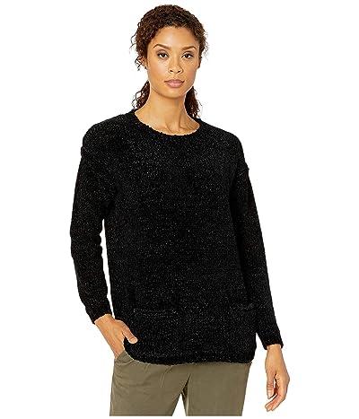 Karen Kane Chenille Double Pocket Sweater (Black) Women