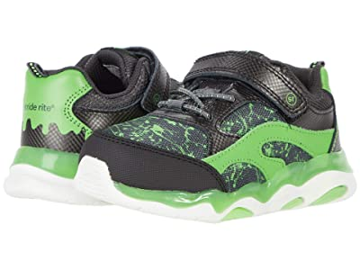 Stride Rite Lighted Swirl (Toddler) (Black/Lime) Boys Shoes