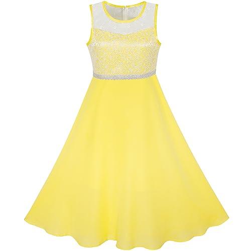 Yellow Gown Dress For Kids Amazoncom