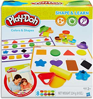 Play-Doh - Shape & Learn - Colours &  Shapes inc 8 Tubs of Dough & acc - Creative Kids Toys - Ages 2+