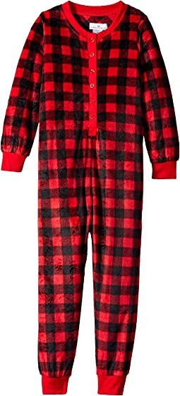 Buffalo Plaid Family Long Sleeve One-Piece PJ (Toddler/Little Kids/Big Kids)