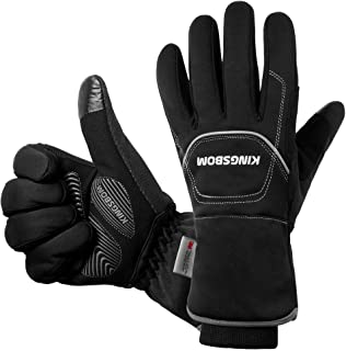 KINGSBOM -40℉ Waterproof & Windproof Thermal Gloves - 3M Thinsulate Winter Touch Screen Warm Gloves - For Cycling,Riding,R...