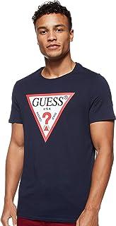 GUESS Men's Crew Neck Small Sleeve Original Logo T-Shirt