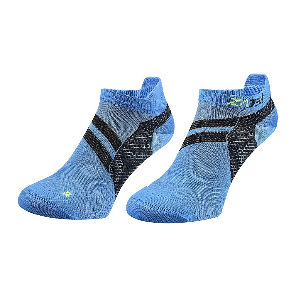ZaTech Compression Socks, Low Cut, No Show Ankle Tab, Ultra Light Plantar Fasciitis, Foot Pain Sock Relief with Arch & Heel Support for Men & Women