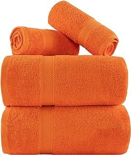 Ensemble de serviettes de qualité supérieure - 2 nos serviettes de bain XL (90 × 180 cm) - 2 serviettes de toilette - 600 ...