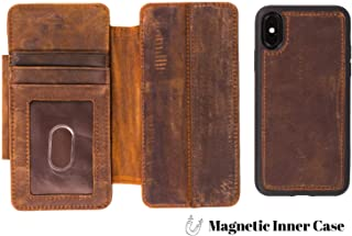 DOC ARTISAN | Classic V5 Wallet | Case for iPhone X/XS | Distressed Brown