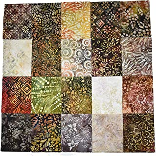 "Java Batiks Premium Quality 9"" x 22"" Fat Eighth Bundle (Assortment of 20, no duplicates) CC137"