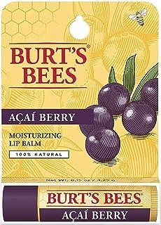 Burt's Bees 100% Natural Moisturizing Lip Balm, Acai Berry 0.15 oz (Pack of 6)