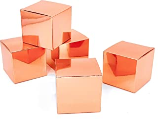 JUICY MOOM Rose Gold Party Favors Candy Treat Boxes Wedding Bachelorette Engagement Bridal Shower Party Baby Shower Birthday Party Favors Boxes Small Christmas Gift Boxes Supplies 50pc