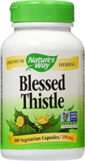 Natures Way Blessed Thistle, 390 milligrams Per Cap, 100 Vegetarian Capsules