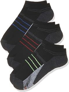 Hanes Men's Socks, Black/Multicoloured, 6-12, (Pack of 3)