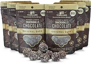 Tom & Luke Healthy Snacks (6 Packs x 8 Balls) | Delicious Original Dark Chocolate Snack Balls for Adults | Gluten Free, Dairy Free, Vegan & No Added Refined Sugar | Whole Food Fruit & Nut Energy Boost
