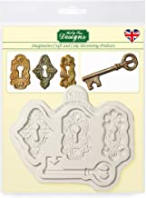 Katy Sue Designs Locks and Key Silicone Mold for Cake Decorating, Cupcakes, Sugarcraft, Candies, Clay, Crafts and Card Making, Food Safe