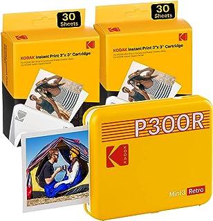 KODAK Mini 3 Retro Portable Photo Printer, Compatible with iOS, Android & Bluetooth Device, Real Photo (3x3), 4Pass Techno...