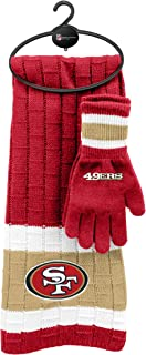49ers scarf and gloves
