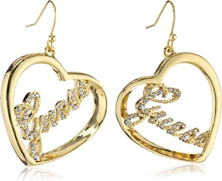 Guess Dangle Earrings for Women, Stainless Steel - UBE21202