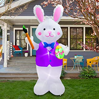 inslife Inflatable Bunny Lighted Easter Eggs Decoration for Home Yard Lawn Garden Indoor Outdoor