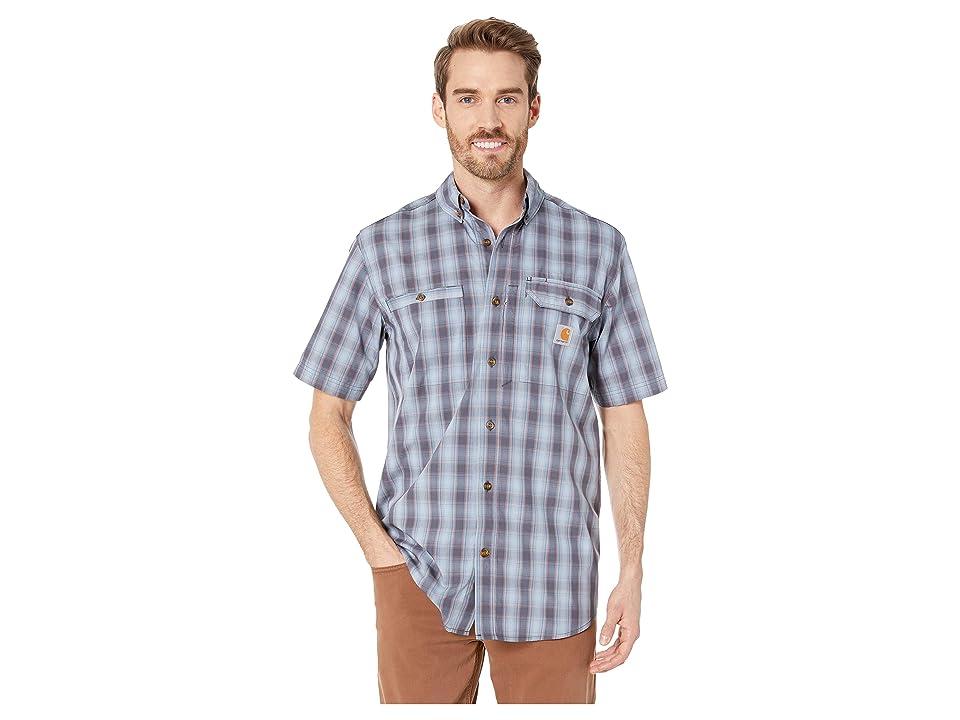 Carhartt Force Ridgefield Plaid Short Sleeve Shirt (Steel Blue) Men