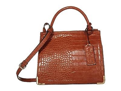 SOLE / SOCIETY Cwen Crossbody 2 (Cognac Croc) Handbags