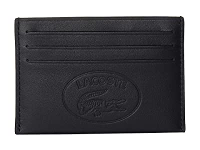 Lacoste L.12.12 Cuir Casual Credit Card Holder (Black) Bags