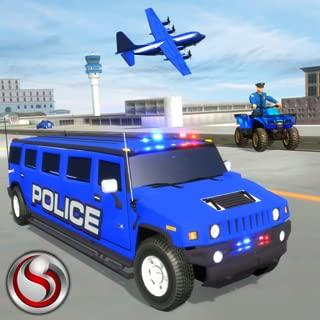 US Police Hummer Car Transport Plane Game