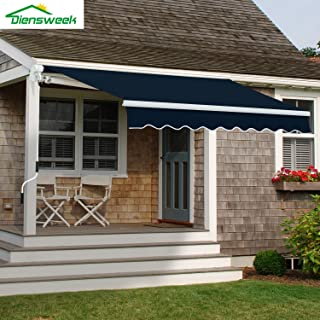 Diensweek Patio Awning Retractable Manual Commercial Grade Fully Assembled- Quality 100%..