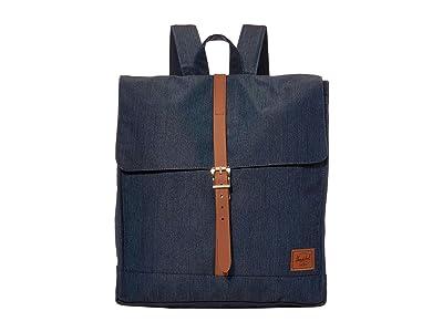 Herschel Supply Co. City Mid-Volume (Indigo Denim Crosshatch) Backpack Bags