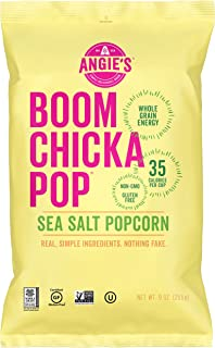 Angie's BOOMCHICKAPOP Sea Salt Popcorn, 9 Ounce Bag