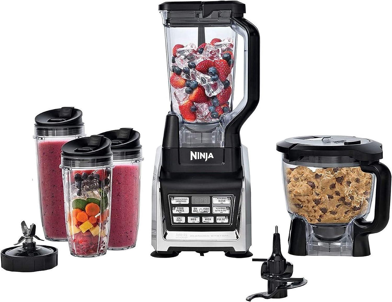 Amazon Com Nutri Ninja Mega 1200 Watts Kitchen System Blending And Food Processing 1 Base 2 Functions Auto Iq Technology Kitchen Dining