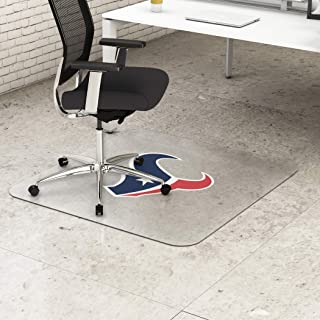 """Houston Texans NFL Frequent Use Chair Mat 45"""" W x 53"""" D Clear Vinyl"""