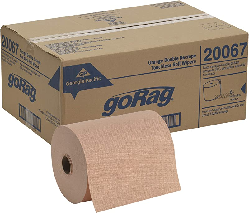Brawny Professional D400 Disposable Shop Towel Refill By GP PRO Georgia Pacific Orange 20067 250 Feet Per Roll 6 Rolls Per Case