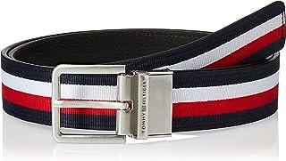 حزام للرجال من تومي هيلفجر تصميم حديث يلبس على الوجهين بعرض 3.5، اسود، 105 سم