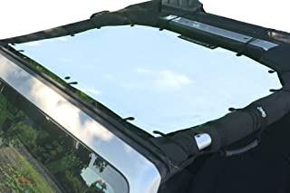 Alien Sunshade Jeep Sunshade Mesh Top Jeep Wrangler 2-Door JK 4-Door JKU 2007-2018 - 10 Year Warranty Front Jeep Top White