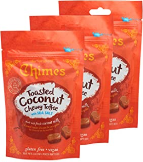 Chimes Toasted Coconut Chewy Toffee with Sea Salt - 3 pk