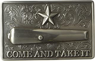 come and take it belt buckle