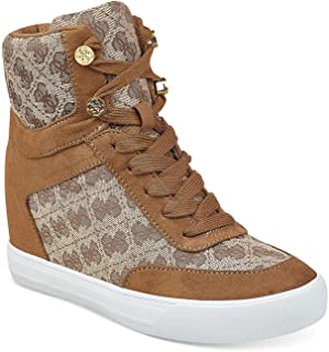 Guess Womens Daylana Fabric Hight Top Lace Up Fashion Sneakers US