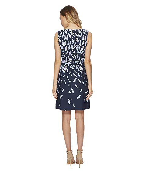Beauty Flare Knit Crepe Fit Printed Papell Fluttering Adrianna and vqRwxSE