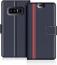 COODIO Custodia per Samsung Galaxy Note 8, Custodia in Pelle Samsung Galaxy Note 8, Cover a Libro Samsung Note 8 Magnetica Portafoglio per Samsung Galaxy Note 8 Cover, Blu Scuro/Rosso