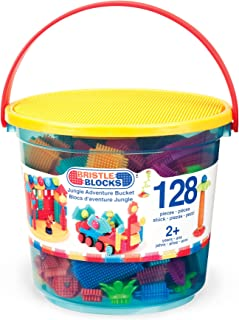 Bristle Blocks by Battat – The Official Bristle Blocks – 128 Pieces in a Bucket – Creativity Building Toys for Dexterity and Fine Motricity – BPA Free 2 years +