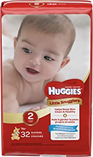 Huggies Little Snugglers Diapers, Size 2, 32 Count
