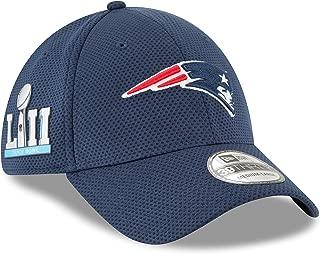 New Era New England Patriots Super Bowl LII Tech Side Patch 39thirty Flex Hat (TECH)