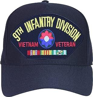9th Infantry Division Vietnam Veteran Baseball Cap. Black. Made in USA