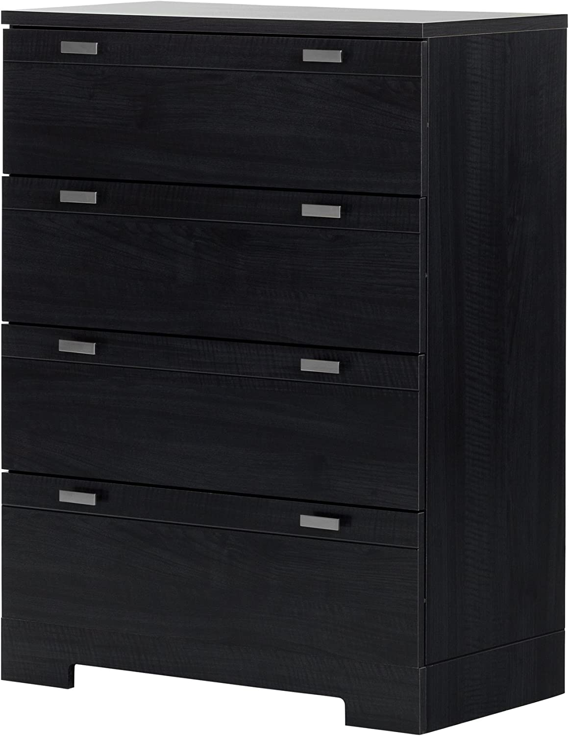 South Shore Furniture 10259 Reevo 4-Drawer Chest, Black Onyx