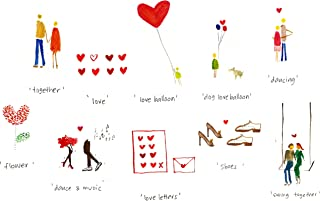 10 Beautiful Romantic Love Cards, Greeting, Valentines Day Cards I Love You from GayaCards (10 Pack)