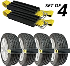 TRACGRABBER Trac-Grabber – Snow, Mud and Sand Tire Traction Device, Set of 4 – for Cars and Small SUVs, Easy to Install – A Snow Traction Mat Alternative – Get Unstuck