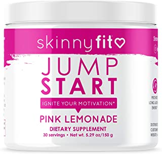 SkinnyFit Jump Start Pre Workout Supplement for Women 30 Servings - Creatine Free Powdered Mix Drink to Help Increase Ener...