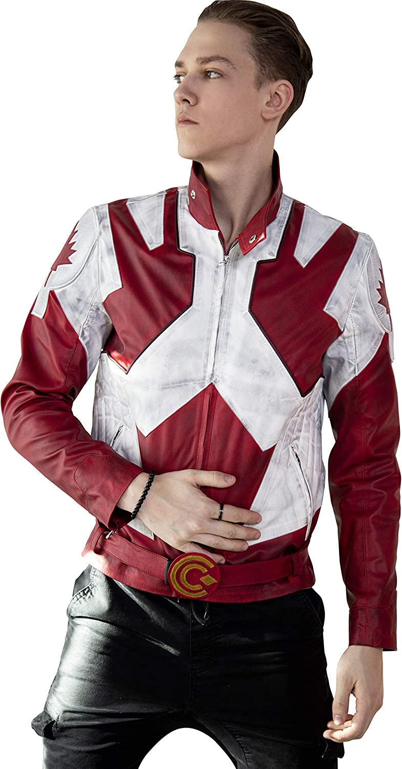 Captain Canada Limited time cheap sale Canuck Vegan Leather Bombing free shipping - Designs Luca Jacket