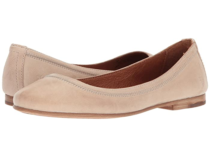 Frye  Carson Ballet (Cream Antique Soft Vintage) Womens Flat Shoes